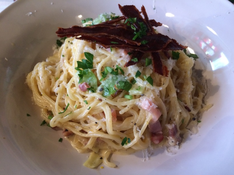 Penne-Carbonara-with-bacon